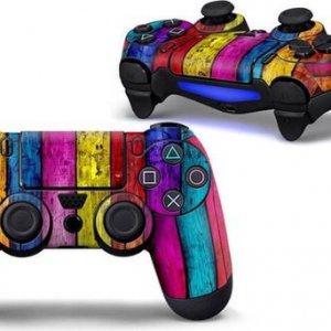 Hout kleuren PS4 controller skin