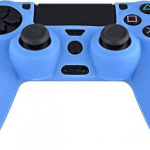 Siliconen hoes purecolor Lichtblauw voor PS4 controller