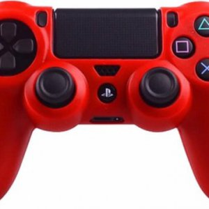 Siliconen hoes purecolor Rood voor PS4 controller