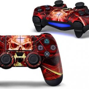 Skull Red PS4 controller skin