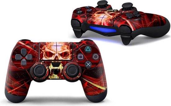 Skull Red PS4 controller skin