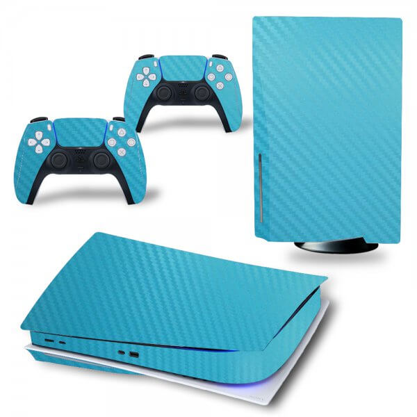 Carbon Blue- PS5 Skin