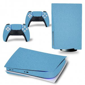Leather Blue - PS5 Skin