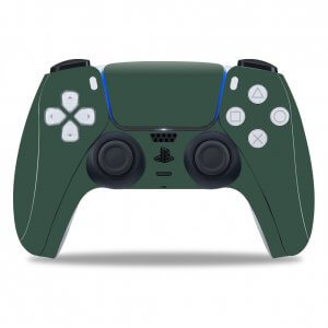 Plain Green PS5 controller skin