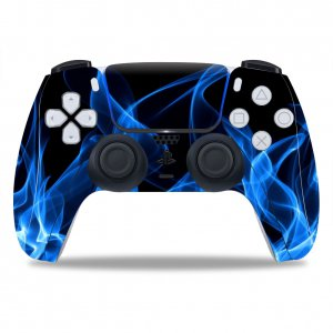 Blue Smoke PS5 controller sticker
